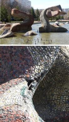 Разрушается визитная карточка Набережных Челнов - скульптуры на бульваре Энтузиастов