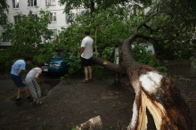 В Набережных Челнах снова прошел ураган