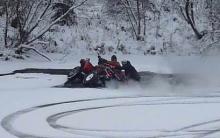 Житель Набережных Челнов провалился под лед на квадроцикле