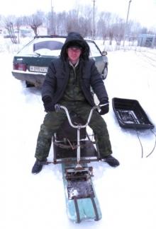 Снегоход в багажнике