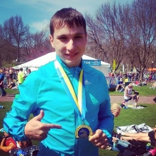 Вадим Янгиров пробежал марафон в Бостоне