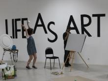 Челнинцы рисовали вместе с художниками