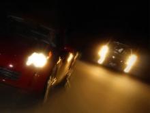 Ночные гонки у 'Торгового квартала' в Набережных Челнах