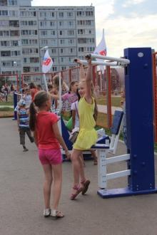 На Боровецком бульваре открыли спортивную площадку
