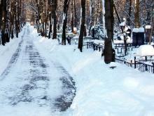 На уборку городских кладбищ зимой 2017 года горисполком выделяет более 700 тысяч рублей
