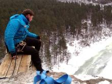 Челнинские роупджамперы, спрыгнув с 46-метровой трубы, отправились на 90-метровую скалу