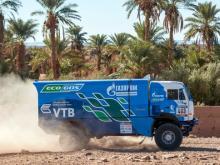 Первым на финиш четвертого этапа 'Африка Эко Рейс' пришел газовый 'КАМАЗ' Сергея Куприянова