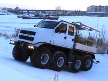 В Набережных Челнах создали 8-колесный вездеход 'Русак' для работы на Крайнем Севере (видео)