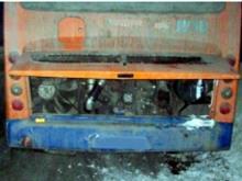 Новый газомоторный «Нефаз» загорелся во время движения, не доехав до Литейного завода