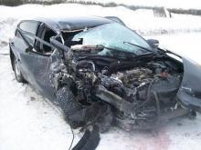 В Татарстане на автотрассе М-7 в столкновении с фурой погибла пассажирка 'Тойоты'