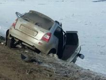 В Азнакаевском районе РТ в столкновении с 'КАМАЗом' погибли два человека в 'Ладе Калине'