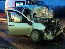 В столкновении 'УАЗа' и 'Лады Калины' на трассе Альметьевск - Азнакаево погиб один из водителей