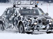 'Лимузин для Путина' проходит тест-драйвы на замерзшем озере в Швеции