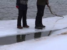 Школьники, вылезшие на льдины на реке Челнинка, сбежали от спасателей