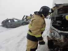 В Альметьевском районе в столкновении с 'Газелью' погиб пассажир 'Лады Калины'