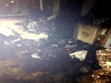 При пожаре в доме 58/21 огонь повредил газовый шланг – кухня в квартире полностью выгорела