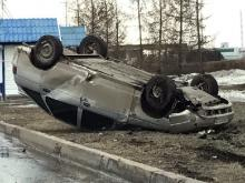 Сегодня утром на проспекте Вахитова опрокинулся автомобиль. Водитель не пострадал