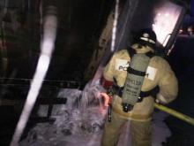 На автотрассе 'Казань - Оренбург' в ДТП загорелись три автомобиля. В огне погиб один из водителей
