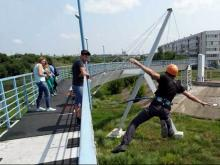 Мост на Элеваторную гору предлагают назвать 'Змей Горыныч', 'Летучий татарин' или 'Коленвал'
