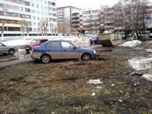 Штрафы за парковку на газоне